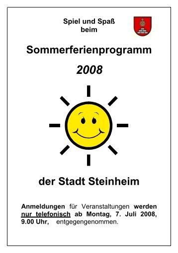 Sommerferienprogramm 2008 - Stadt Steinheim an der Murr