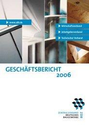 Struktur und Organisation - Zentralverband Deutsches Baugewerbe