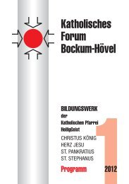 Programm 2012 - Katholische Pfarrgemeinde Heilig Geist - Hamm ...
