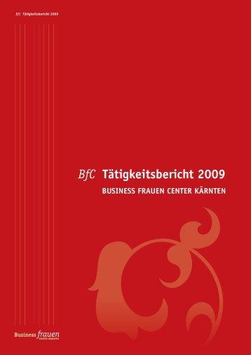 BfC tätigkeitsbericht 2009 - Business frauen Center Kärnten