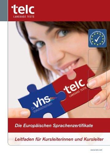 Leitfaden für VHS Kursleiterinnen und Kursleiter - telc GmbH
