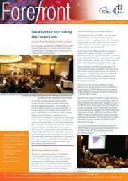 RESEARCH REPORT - Peter MacCallum Cancer Centre