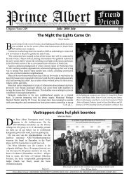July issue of the PA Friend / PA Vriend Julie uitgawe