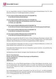 Am neu eingerichteten Lehrstuhl für Klinische ... - DGPs