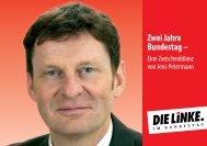 Zwei Jahre Bundestag – - Jens Petermann