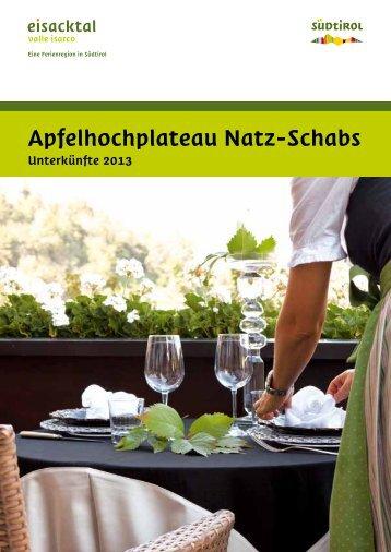 Unterkünfte 2013 - Tourismusverein Natz Schabs