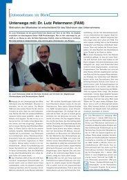 Dr. Lutz Petermann (FAM) - Haus der Wirtschaft
