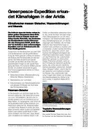 Greenpeace-Expedition erkundet Klimafolgen in der Arktis