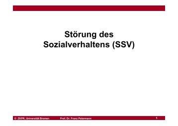 Präsentation Störung des Sozialverhaltens - Universität Bremen