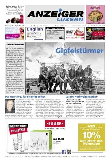 Anzeiger Luzern, Ausgabe 37, 12. September 2012