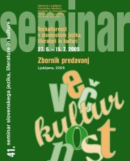 seminar slo venskega jezika, literature in kulture - Center za ...