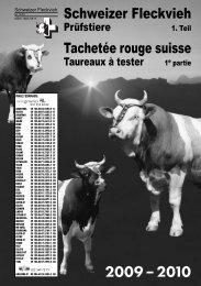 Prüfstiere 2009/2010 Serie 1 - fr - Swissgenetics