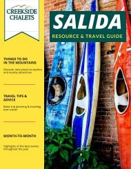 Creekside Chalets - Salida Resource Guide