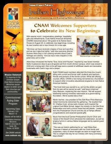 """Litany: """"There Is a Journey"""" - Cook Native American Ministries"""