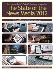 Pew Research Center's Project for Excellence in Journalism An ...