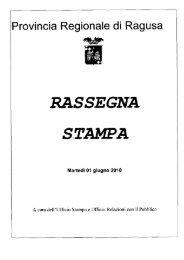 01/06/2010 - Provincia Regionale di Ragusa