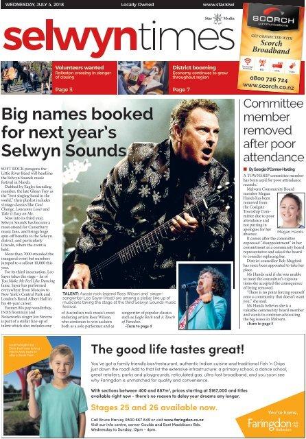 Selwyn Times: July 04, 2018