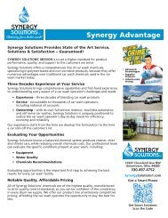 Synergy Solutions Product Catalog 072018