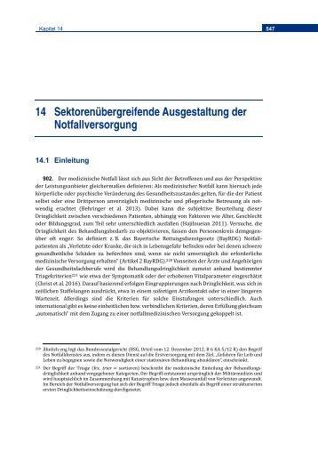 SVR Gutachten 2018 Sektorenübergreifende Versorgung der Notfallversorgung