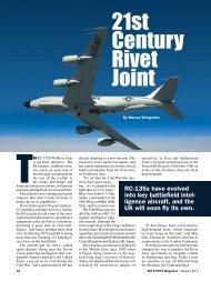 21st Century Rivet Joint - Air Force Magazine