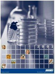 Annual Report 2002 - Bachem