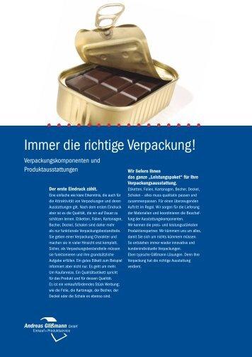 Immer die richtige Verpackung! - Andreas Glißmann GmbH