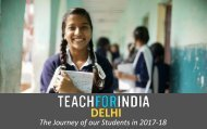 TFI Delhi Student Impact Report: 2017-18