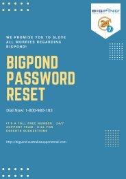 Solve Bigpond Password Reset  Issue At 1-800-980-183