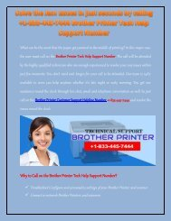 Brother Printer Tech Support +1-833-445-7444 Helpline Phone Number