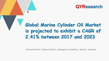 Global Marine Cylinder Oil Market is projected to exhibit a CAGR of 2.41