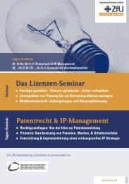 Patentrecht & IP-Management - ZfU - International Business School
