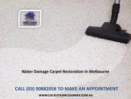 Water Damage Carpet Restoration In Melbourne