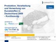 Produktion, Verarbeitung und Verwertung von ... - PlasticsEurope
