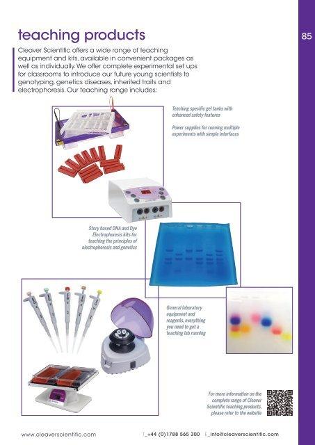 Cleaver Scientific Catalog 2019