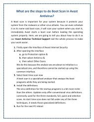 What are the steps to do Boot Scan in Avast Antivirus?