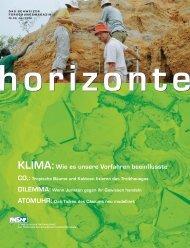 Horizonte Nr. 69 - Gesamtausgabe (PDF, 5.8 MB) - Schweizerischer ...