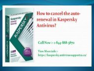 How to cancel the auto-renewal in Kaspersky Antivirus