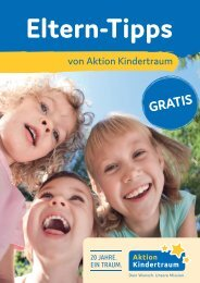 Aktion Kindertraum Eltern-Tipps Tübingen / Reutlingen / Esslingen / Göppingen 2018