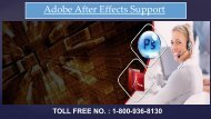 Adobe After Effects Support Phone Number 1-800-936-8130
