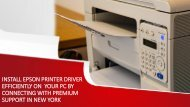 Install Epson Printer Driver Efficient on your PC at an affordable price in New York