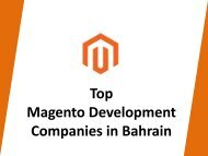 Top Magento Development Companies in Bahrain