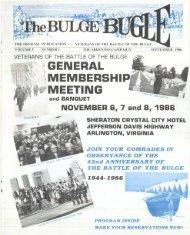 general membership meeting - Veterans of the Battle of the Bulge