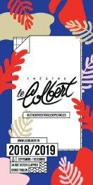 Théâtre Le Colbert - Programme 2018 / 2019 - Septembre / Décembre