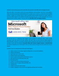 Microsoft office 365 Support Phone Number +1-833-445-7444