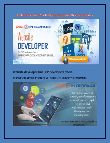 DIGI Interface Web Designing and Developments