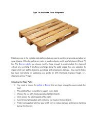 Tips To Palletize Your Shipment