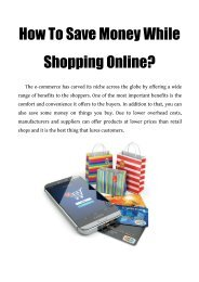 How To Save Money While Shopping Online?