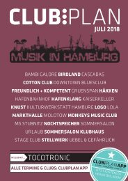 Clubplan Hamburg - Juli 2018