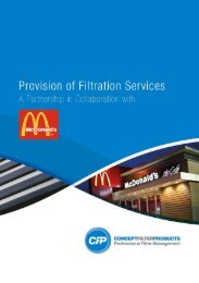 A Partnership in Collaboration with McDonald's - Concept Filter Products
