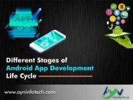 Different Stages of Android App Development Life Cycle